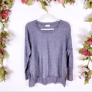Altar'd State   blue marled popover crew sweater